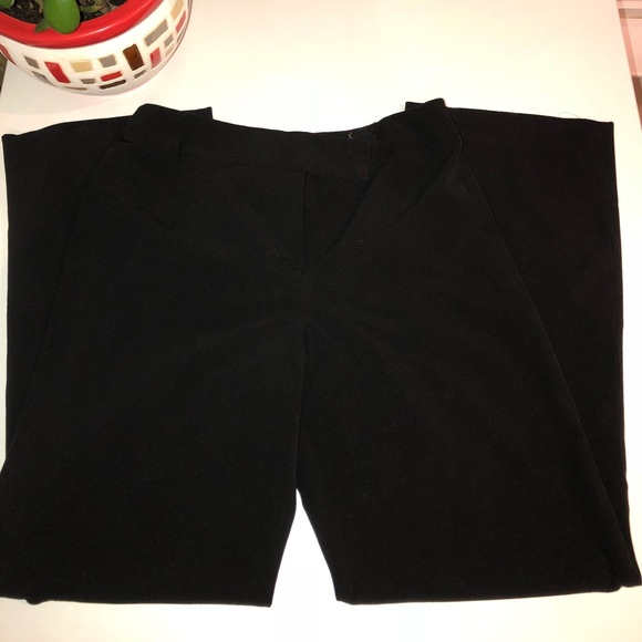 Larry Levine Pants - Black Stretch Trousers